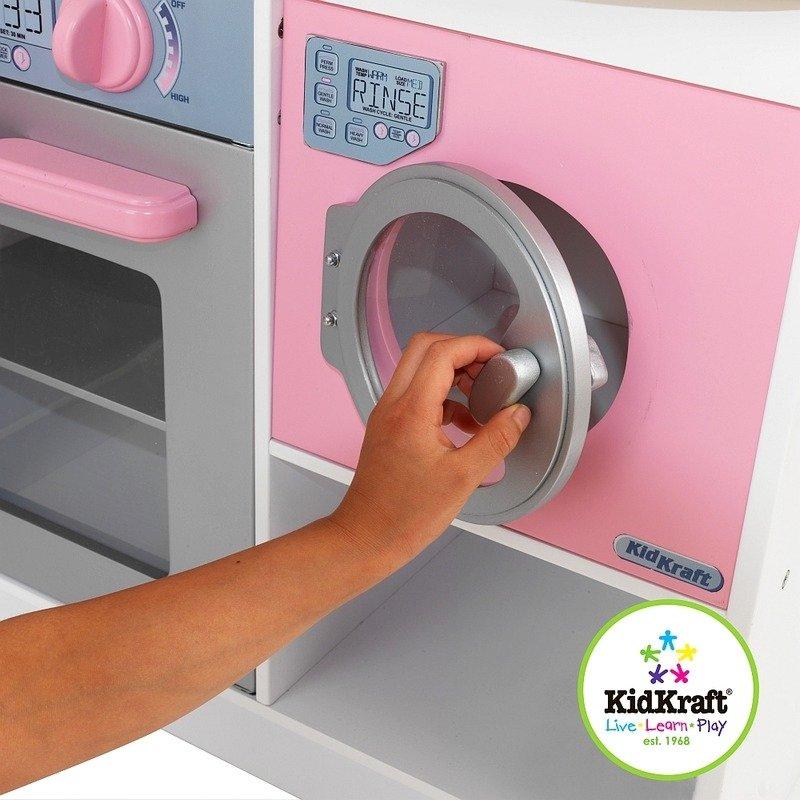 Biało różowa narożna kuchnia dla dzieci KidKraft  ZABAWKI  Odgrywanie ról  -> Kuchnia Drewniana Dla Dzieci Kidkraft