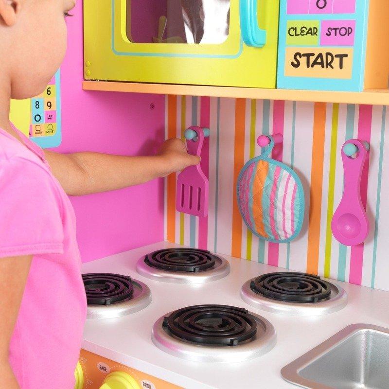 Drewniana kuchnia pastelowe paceczki KidKraft  ZABAWKI  Odgrywanie ról  Ku   -> Kuchnia Drewniana Dla Dzieci Kidkraft