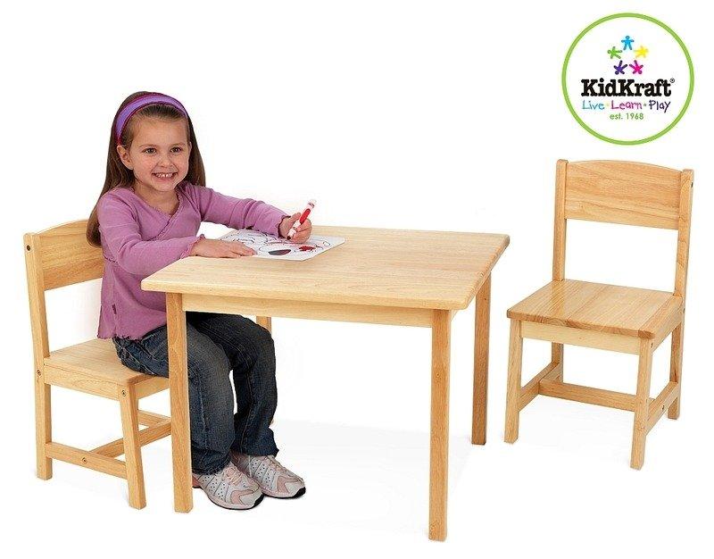 Naturalny stolik z krzesłami dla dzieci KidKraft  ZABAWKI  Zabawki drewnian   -> Drewniane Kuchnie Dla Dzieci Kidkraft