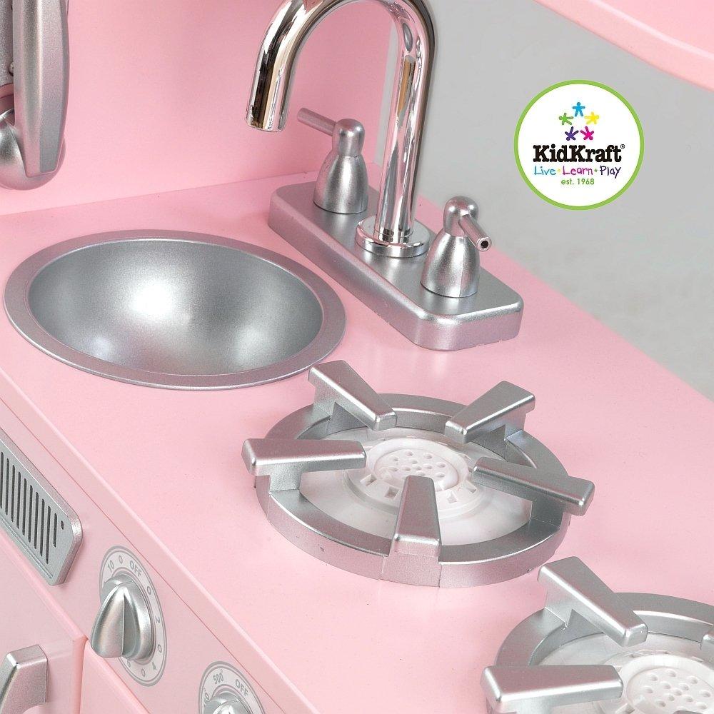 Różowa kuchnia Vintage dla dziewczynek KidKraft  ZABAWKI  Odgrywanie ról