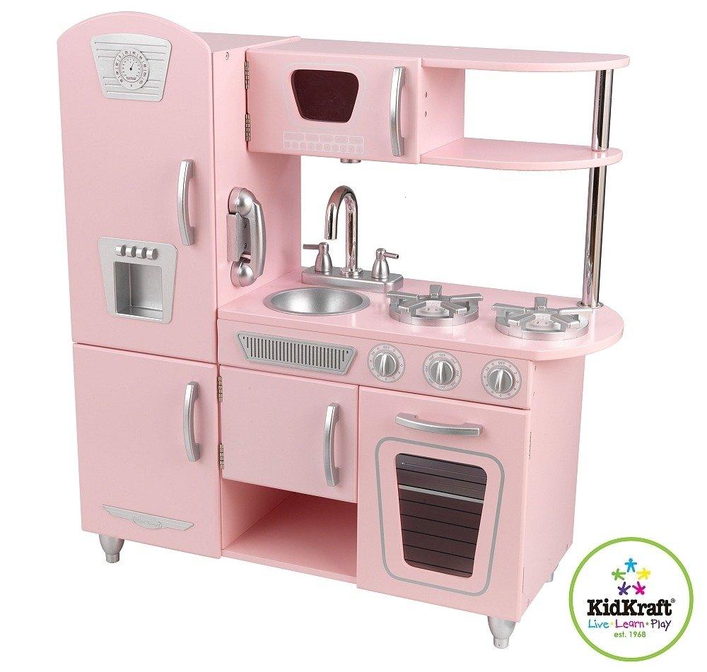 Różowa kuchnia Vintage dla dziewczynek KidKraft  ZABAWKI   -> Kuchnie Dla Dzieci Kidkraft