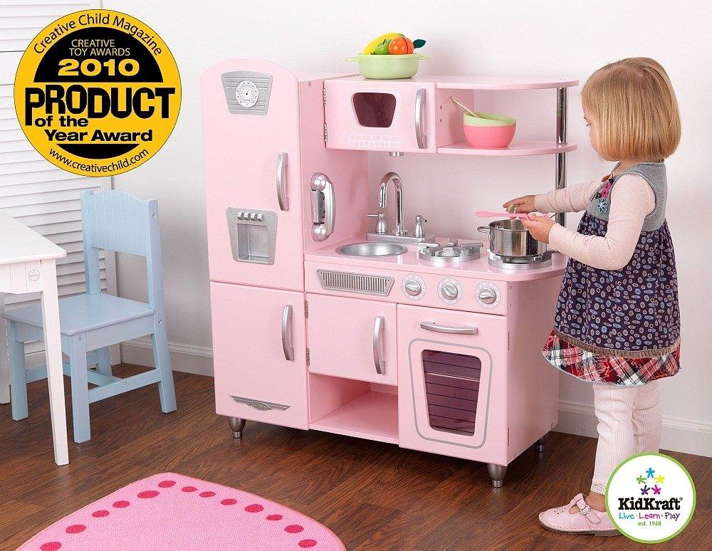 Różowa kuchnia Vintage dla dziewczynek KidKraft  ZABAWKI