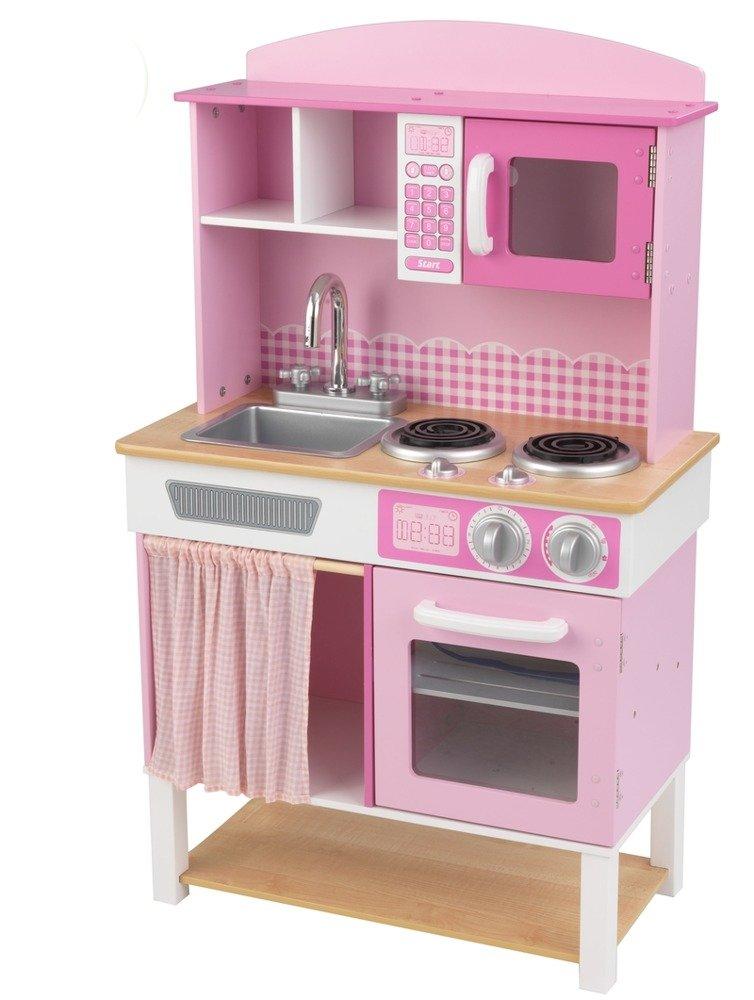 Różowa kuchnia w domowym stylu dla dzieci KidKraft  ZABAWKI  Odgrywanie ról   -> Kuchnia Drewniana Dla Dzieci Kidkraft