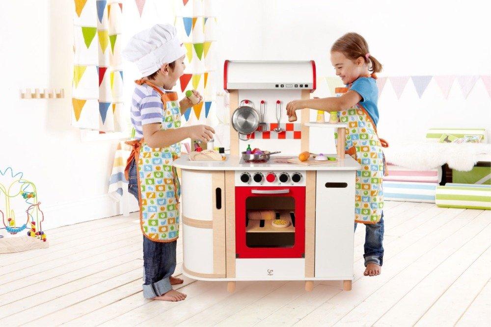 Wielofunkcyjna kuchnia czerwony piekarnik Hape  ZABAWKI