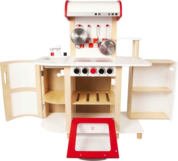 Wielofunkcyjna kuchnia czerwony piekarnik Hape  ZABAWKI  Zabawki drewniane