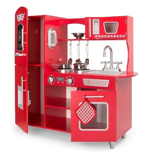 Czerwona Kuchnia Drewniana Dla Dzieci Piekielko Zabawki Zabawki