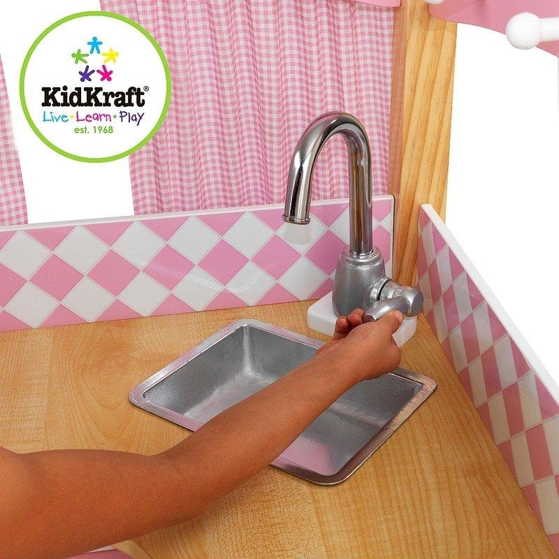 Bialo Rozowa Narozna Kuchnia Dla Dzieci Kidkraft Zabawki