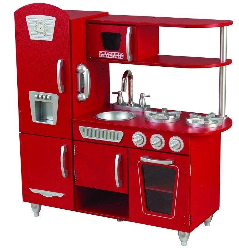 Czerwona kuchnia Vintage dla dzieci KidKraft  ZABAWKI   -> Kuchnie Dla Dzieci Smyk