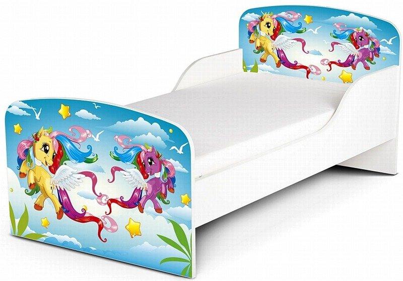 Drewniane łóżko Dla Dzieci Kucyki Pony