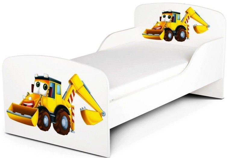 Drewniane łóżko Dla Dzieci śpiąca Koparka