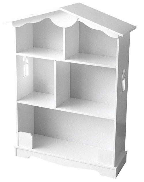 Drewniany Regał Dla Dzieci Domek W Bieli