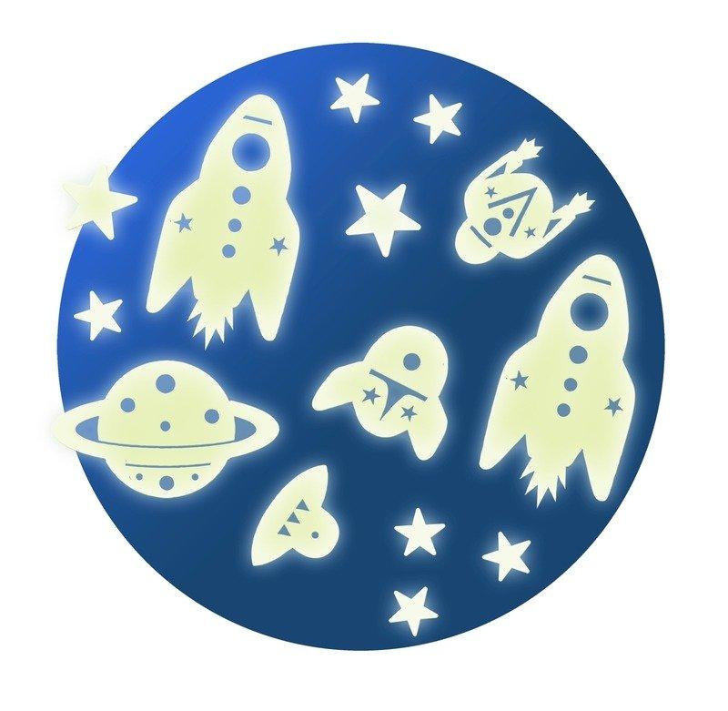 Fluorescencyjne Naklejki Na Sciane Kosmos Djeco Zabawki Zabawki
