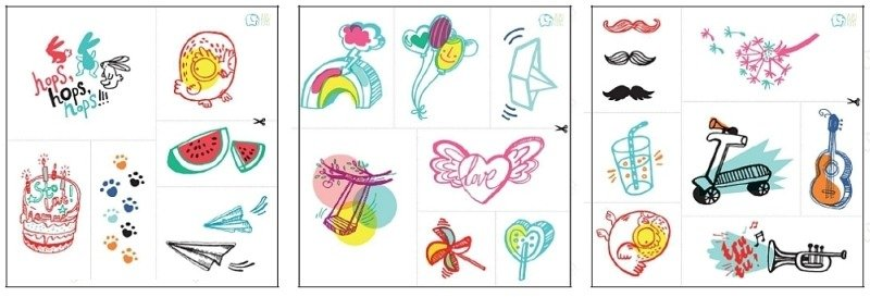 Kolorowe Tatuaże Zmywalne Letnie Wzory Zuzu Toys