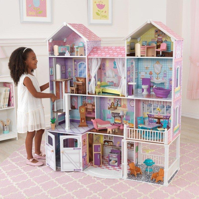 Piętrowy Domek Dla Lalek Z Wyposażeniem Kidkraft Zabawki Lalki