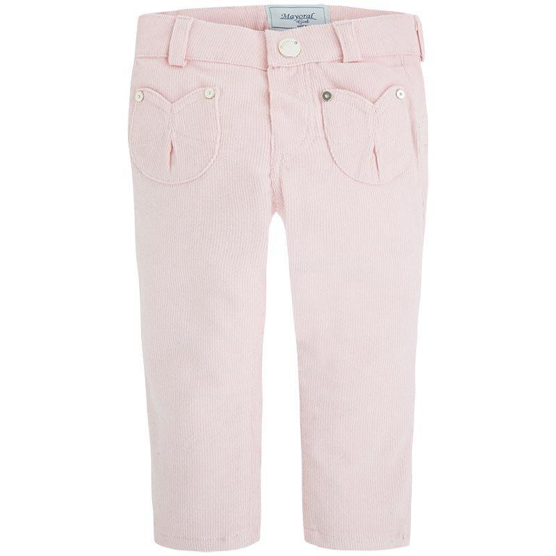 44478cec Różowe spodnie sztruksowe z brokatem, ubranka dla dziewczynek