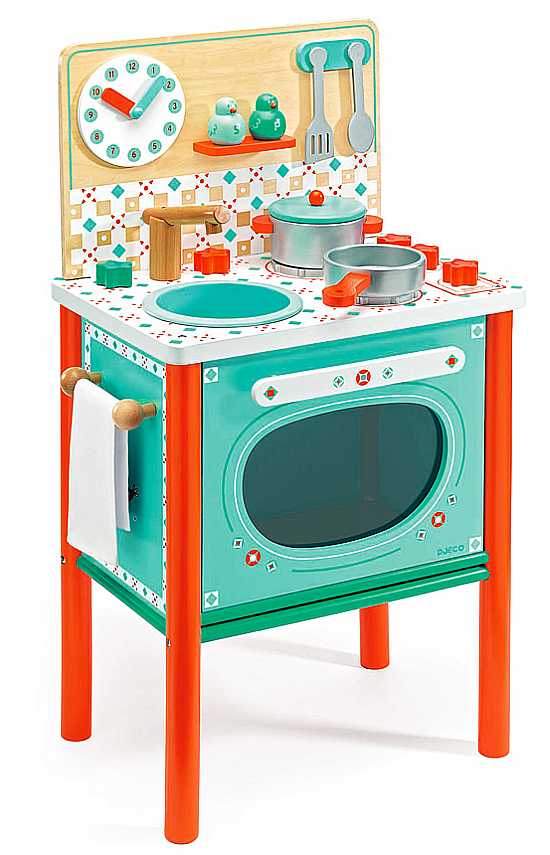 Turkusowa Kuchnia Dla Dzieci Z Akcesoriami Djeco Zabawki