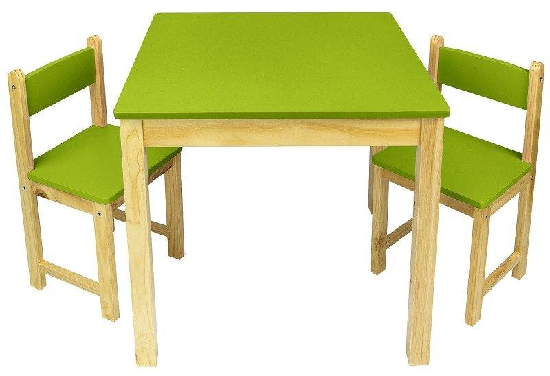Rewelacyjny Zielony zestaw drewniany stół i dwa krzesełka | POKOIK \ Meble dla FY13