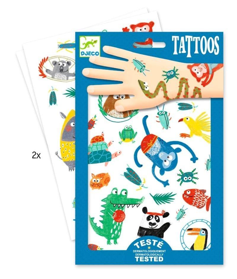 Zmywalne Tatuaże Dla Dzieci Zwierzyniec Djeco