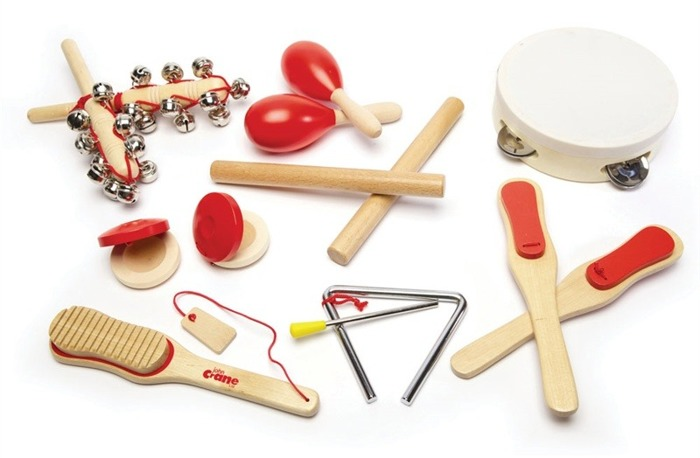 Czerwone instrumenty muzyczne dla dziecka Tidlo