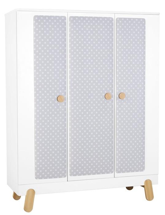 Pinio Iga Szafa 3 drzwiowa biała z nakładką
